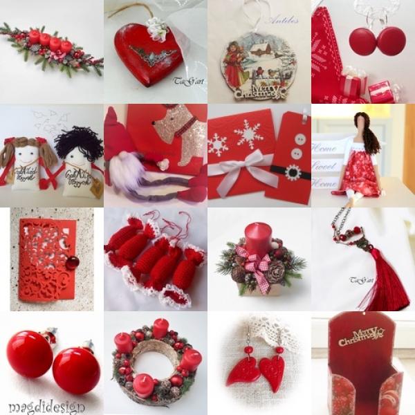 Piros karácsonyi